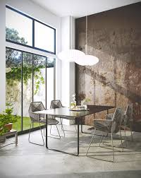 lighting living room complete guide: small modern dining room with minimalist chairs design
