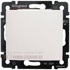 <b>774411 Legrand Выключатель</b> без фиксации - <b>Valena</b> - 10 A - 250 В
