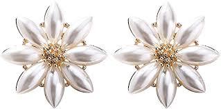 Aniwon Ear Studs <b>Fashion Simple</b> Decor Pearl Flower <b>Stud Earrings</b> ...