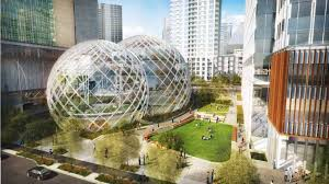amazons domes will be built in the shadow of a skyscraper that the online retailer is apple head office london