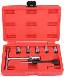 <b>7Pcs Diesel Injector</b> Seat <b>Cutter</b> Cleaner Set Universal <b>Injector</b> Re ...