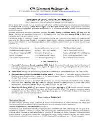 plant manager resume getessay biz of operations and plant manager cw mcgowen by cwmcgowen plant manager plant manager resume