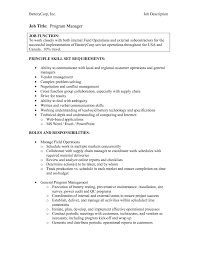 manager resume cover letter sample per nk to operations manager job description