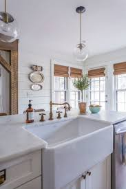modern gorgeous design basin faucet kitchen love the unpolished brass faucet and farmhouse sink in this beautiful