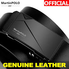 <b>MartinPOLO Men</b> Belt Genuine Leather <b>Automatic Buckle</b> Luxury ...