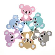 Wholesale 10pc Koala Silicone Baby Teether Animal Bear Bpa Free ...