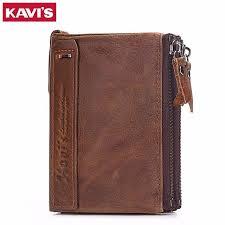KAVIS Genuine Cowhide Leather <b>Men</b> Wallet <b>Male Cuzdan</b> walet ...