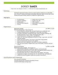 unforgettable apprentice plumber resume examples to stand out    apprentice plumber resume sample
