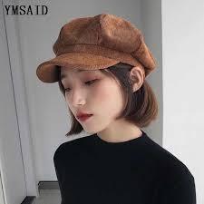 Ymsaid Autumn <b>Winter Hats</b> For Women <b>Solid</b> Plain <b>Octagonal</b> ...