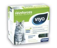 VIYO - Пребиотический напиток для пожилых кошек Reinforces ...