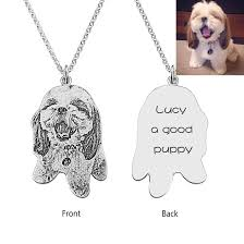 <b>925 Sterling Silver Personalized</b> Pet Necklace - Customize With ...