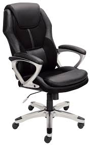 amazoncom serta 43673 faux leather mesh executive chair black kitchen dining black office chair