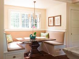 Small Dining Room Storage Small Breakfast Nook Design With Rectangular Pedestal Oak Dining