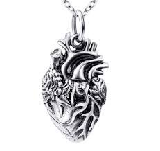 Anatomical Heart Necklace made of <b>925 Sterling</b> Silver – Serebra ...