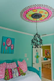 turquoise walls kids eclectic amazing ideas with handpainted ceiling custom bedding bathroomravishing ceiling medallion lighting ideas