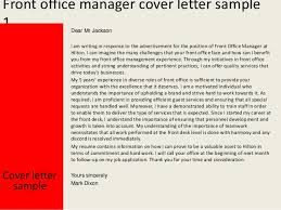 front office manager cover letter   front office manager cover letter sample