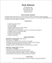 cashier resume objective qualification work history sample resume    cashier resume templates customer service resume cashier skills for resume