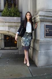 interview ready navy and lace skirt people top sca s blazer gap shoes sam edelman