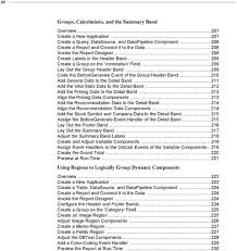 reportbuilder developer sguide third edition pdf 209 code the beforegenerate event of the group header band 210