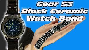 Samsung Galaxy Watch  Gear S3 Black <b>Ceramic Watch Band</b>- Best ...
