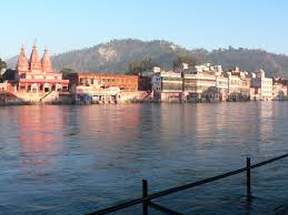 Image result for images of yogis bathing in ganga