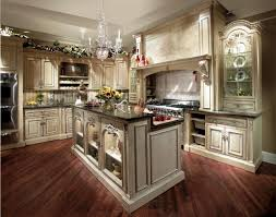Walnut Floor Kitchen Interior French Style Kitchen Design Idea Lwith Uxury Crystal