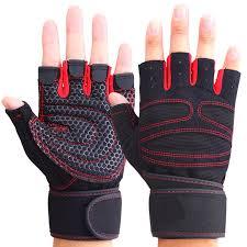 Men Women <b>Half Finger Fitness</b> Gloves Weight Lifting Gloves ...