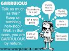 Images & Illustrations of garrulous