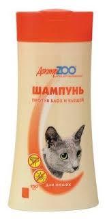 Доктор ZOO <b>Доктор ZOO шампунь</b> от блох и клещей для кошек ...