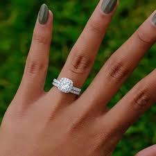 Luxury Brand Classic Jewelry Rings Shiny <b>Princess</b> Cut Faux Gem ...