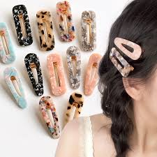 <b>Sale 1pc</b> Japan Women Acetic Acid Hair Clips Hairpins Leopard ...