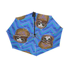 GIOVANIOR Colorful Puppy Dogs Umbrella <b>Double</b> Sided Canopy ...