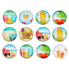 Crafts <b>12PCs</b> Mixed With Slippers Pattern Glass Snap <b>Jewelry</b> ...