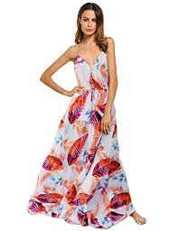 Clearlove <b>Womens Floral</b> Casual Beach Party <b>Maxi Dress</b> Orange ...