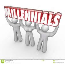 millennials word microphone voices talking interview podcast rad millennials 3 young people lifting word youth marketing stock photography