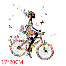 Beautiful <b>lovely girl</b> Cycling <b>Patches</b> Heat Transfer <b>Iron</b> On <b>Patch</b> A ...