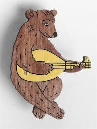 "<b>Значок</b> ""Медведь-лютнист"" Брошечная им. Билла Трейлора ..."