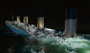 which happened first sinking of titanic or the iceberg theory