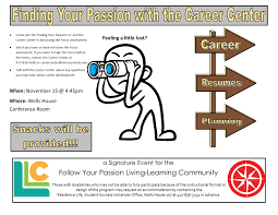 finding your passion the career center living learning find your passion the career center part