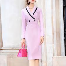<b>Temperament Pink</b> Flip Collar Slim <b>Dress</b> | <b>Dresses</b>, Bodycon <b>dress</b> ...