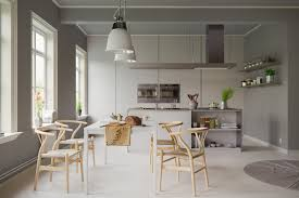 Dining Room Pendant Light Dining Room Grayscale Scandinavian Dining Room With Pendant