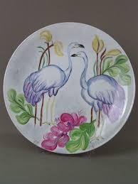 <b>Тарелка</b> «<b>Фламинго</b>», фарфор, роспись надглащурная. Бавария ...
