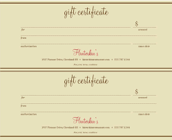 best photos of gift certificate templates gift certificate restaurant gift certificate template