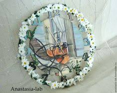 Childrens <b>wall clock</b>. Decoupage on the glass. Fairy. <b>Wall Clock</b> ...