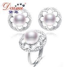 [Yinfeng]<b>New fashion natural freshwater</b> pearl sun flower jewelry set ...