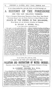 law finex online my favorite blurb on moore s work on the rights of the crown in the seashore the book should certainly a place in the library of the lord of every