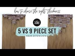 Should I buy the 5 piece set or 9 piece set clip in hair ... - Zala