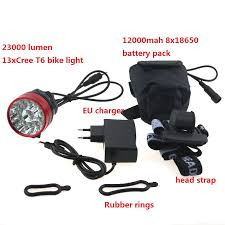 23000 lumens <b>13xCree XML T6</b> Led Bike Light headlamp Cycling ...