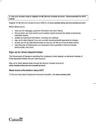 employment insurance ei benefit statement ca sample