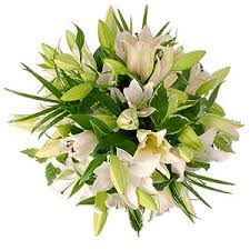Image result for white lily bouquet
